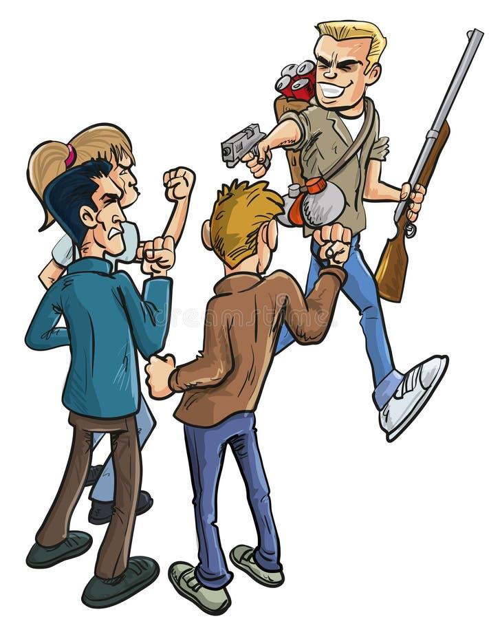 Verrader en Verraad stock illustratie