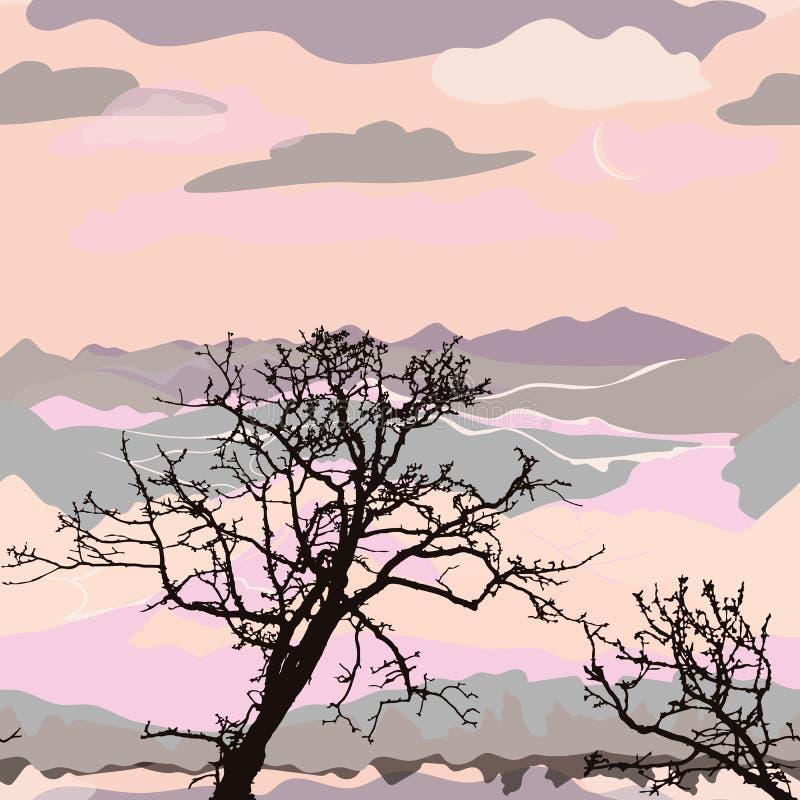 De Illustratie van het berglandschap stock illustratie