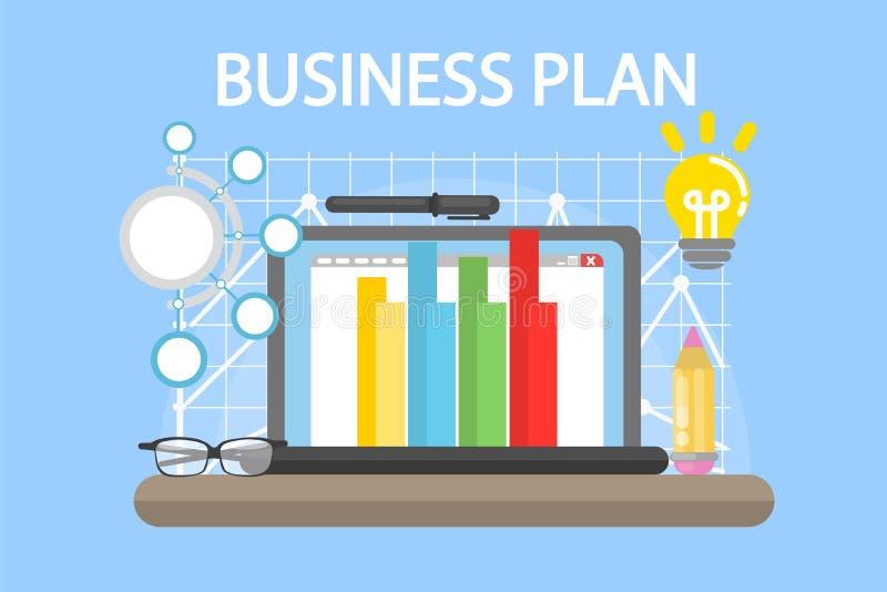 De illustratie van het businessplan stock illustratie