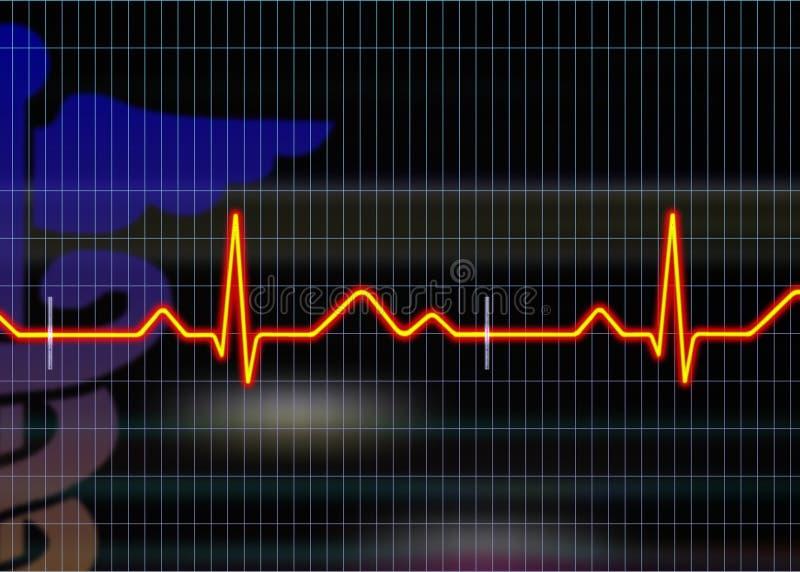 De illustratie van het cardiogram royalty-vrije illustratie