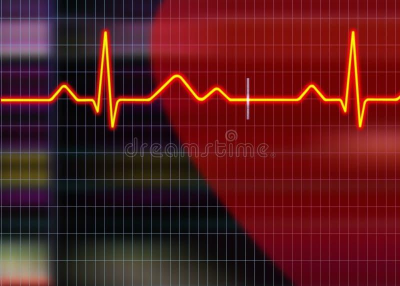 De illustratie van het cardiogram vector illustratie