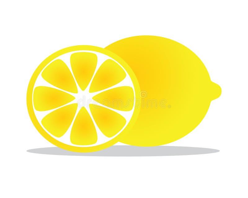 De illustratie van het citroenfruit vector illustratie