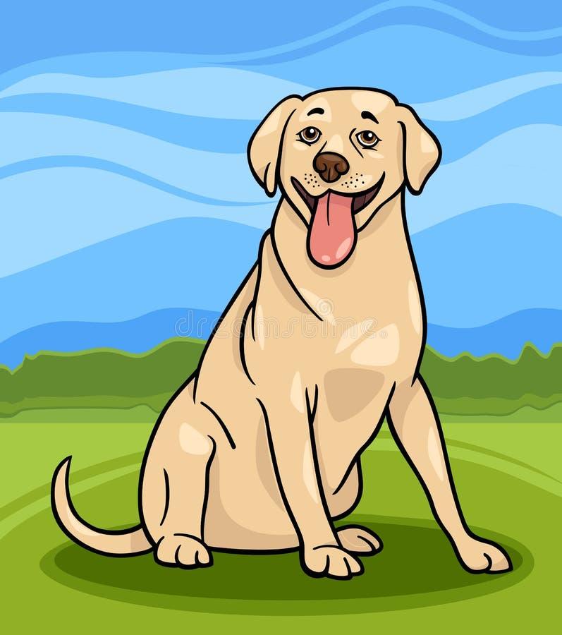 De illustratie van het de hondbeeldverhaal van de labrador vector illustratie