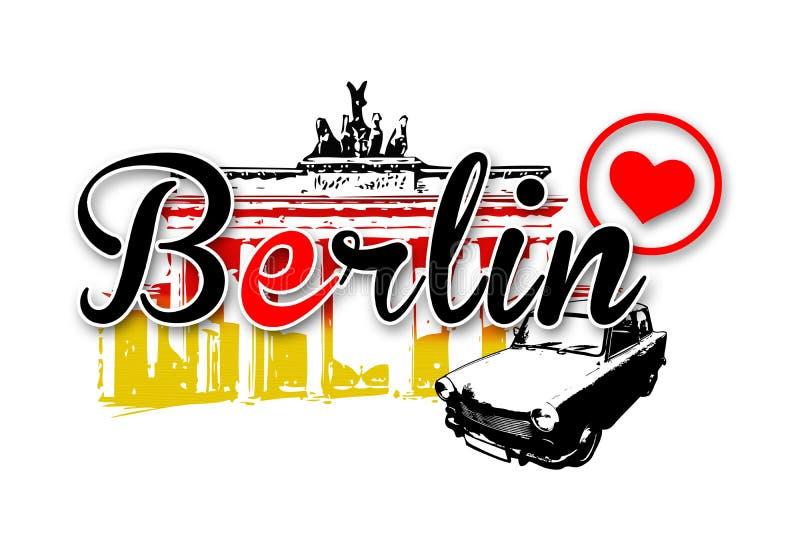 De illustratie van het de kunstontwerp van Berlijn stock illustratie