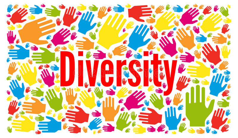 De illustratie van het diversiteitsconcept royalty-vrije illustratie
