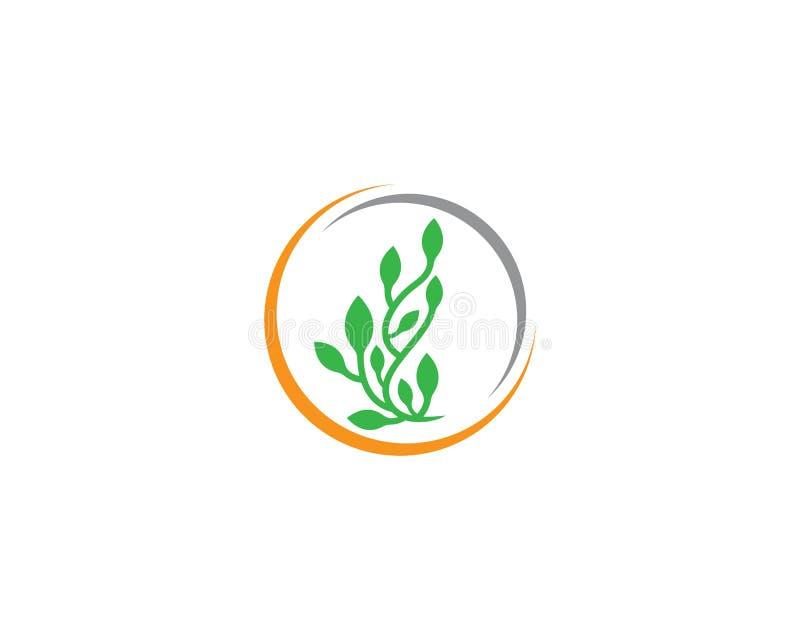 De illustratie van het ecologieembleem stock illustratie