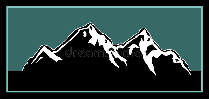 De Illustratie van het Embleem van de berg stock illustratie