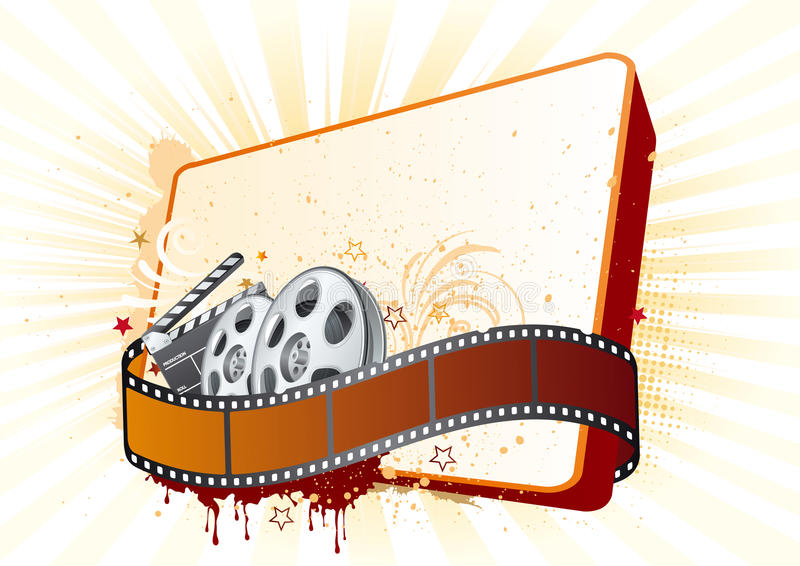 de illustratie van het filmthema stock illustratie