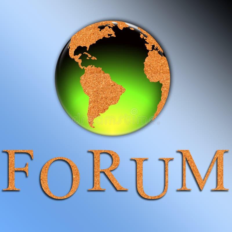 De illustratie van het forum vector illustratie