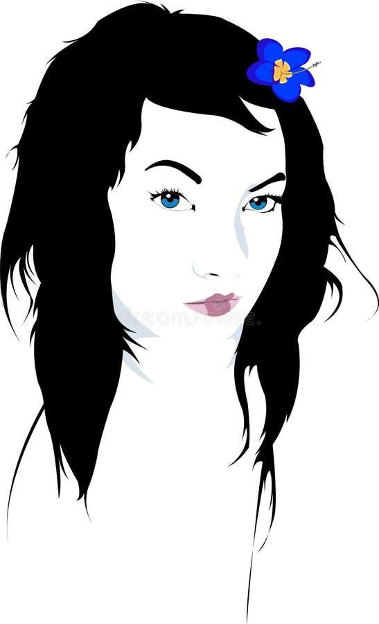 De Illustratie van het Gezicht van de vrouw royalty-vrije illustratie