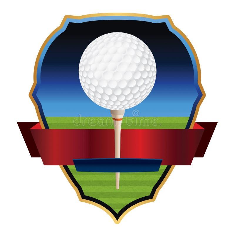 De Illustratie van het golfembleem stock illustratie