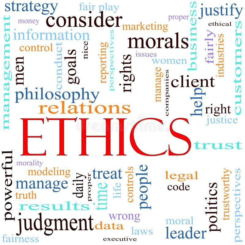 De illustratie van het het woordconcept van de ethiek vector illustratie