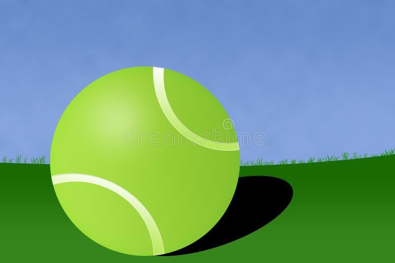 De Illustratie van het Hof van de Bal van het tennis royalty-vrije illustratie