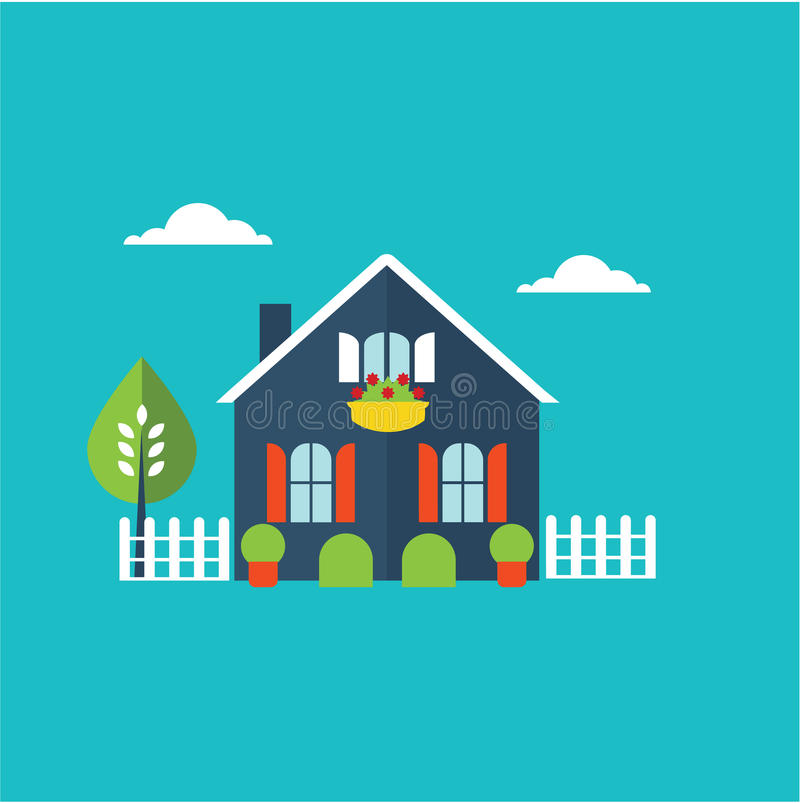De illustratie van het huishuis royalty-vrije illustratie