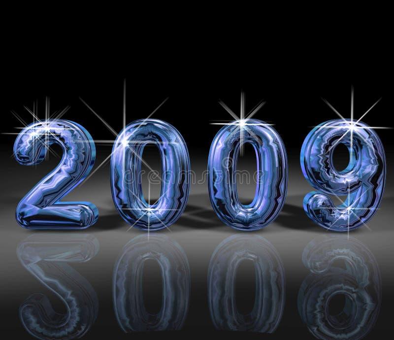 De illustratie van het jaar 2009 vector illustratie