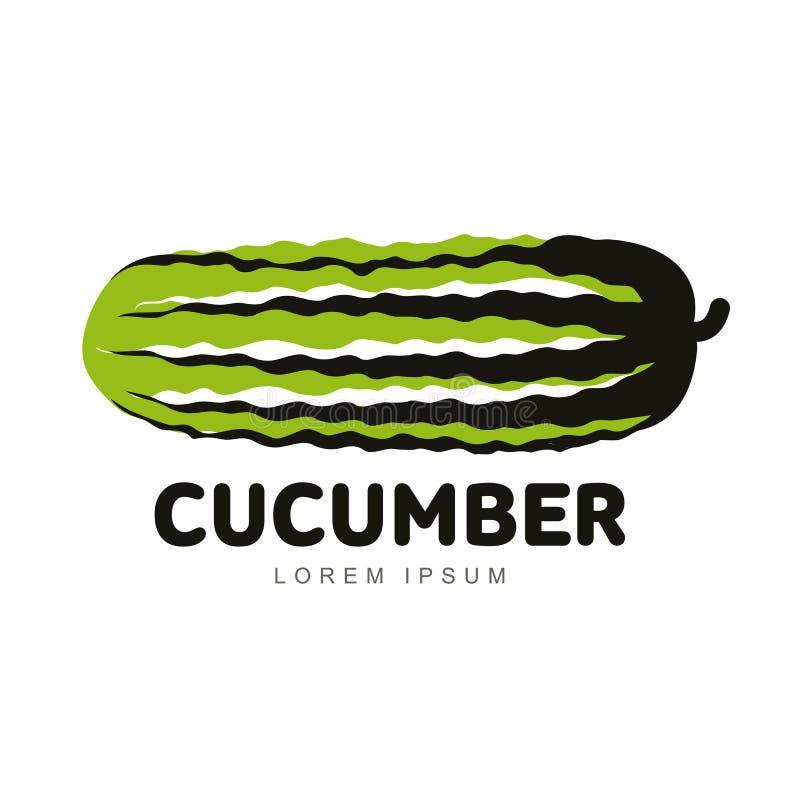 De illustratie van het komkommerembleem royalty-vrije illustratie