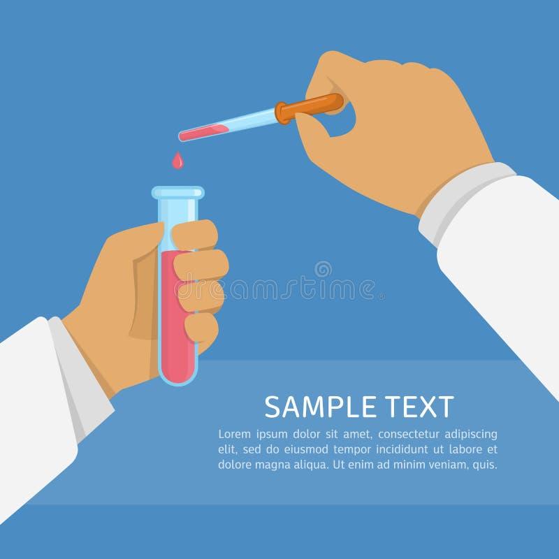 De illustratie van het laboratoriumonderzoek vector illustratie