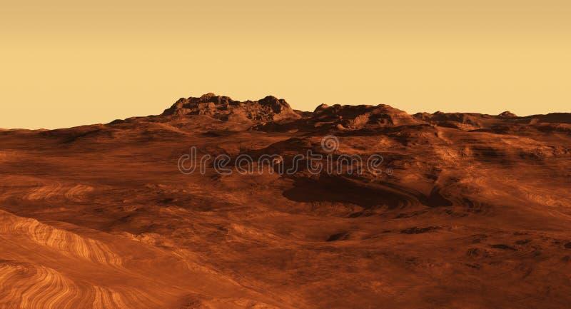 De Illustratie van het Landschap van de Marsbewoner royalty-vrije illustratie