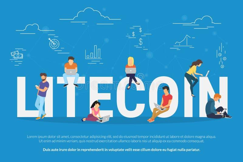 De illustratie van het Litecoinconcept royalty-vrije illustratie