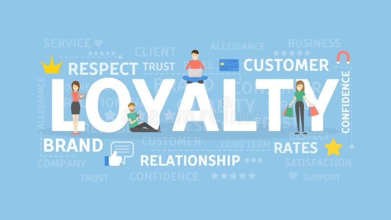 De illustratie van het loyaliteitsconcept vector illustratie