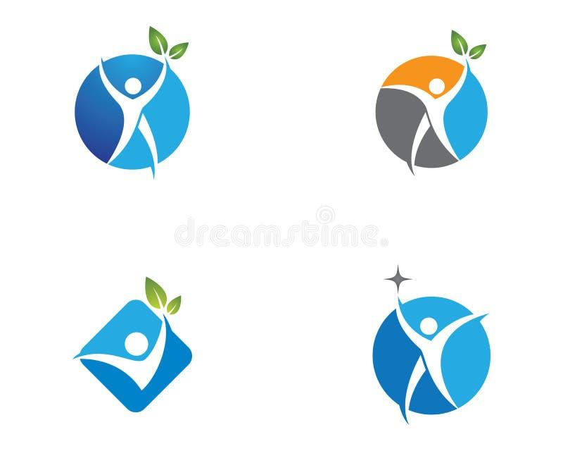 De illustratie van het menselijke gezondhedensymbool stock foto's