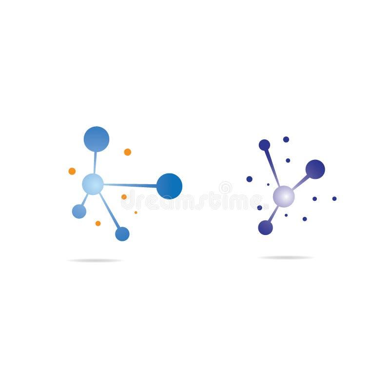 De illustratie van het moleculesymbool royalty-vrije illustratie