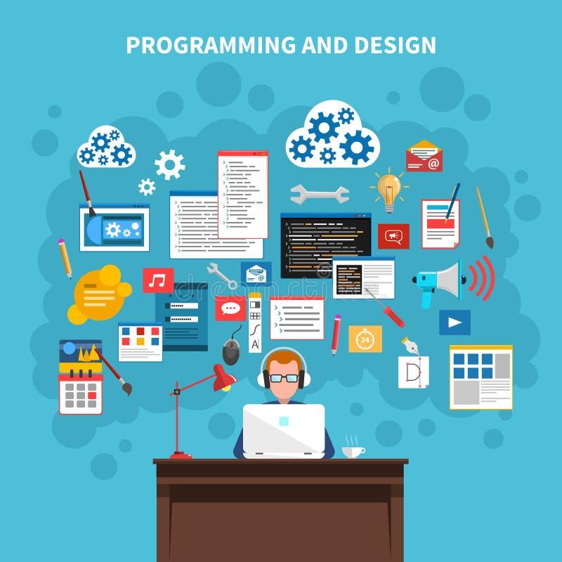 De illustratie van het programmeringsconcept vector illustratie