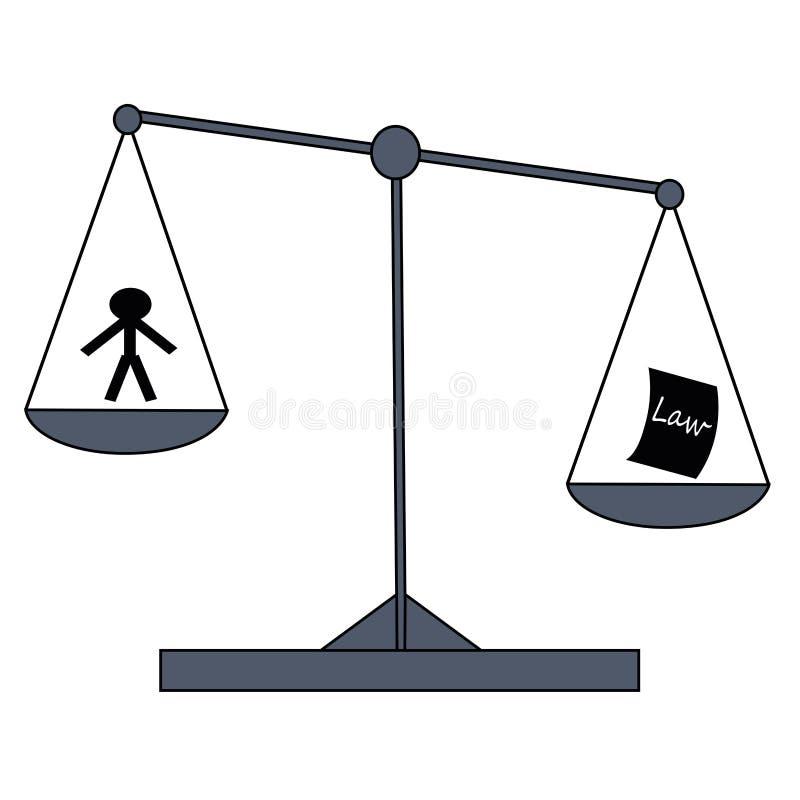 De illustratie van het rechtvaardigheidssymbool stock illustratie