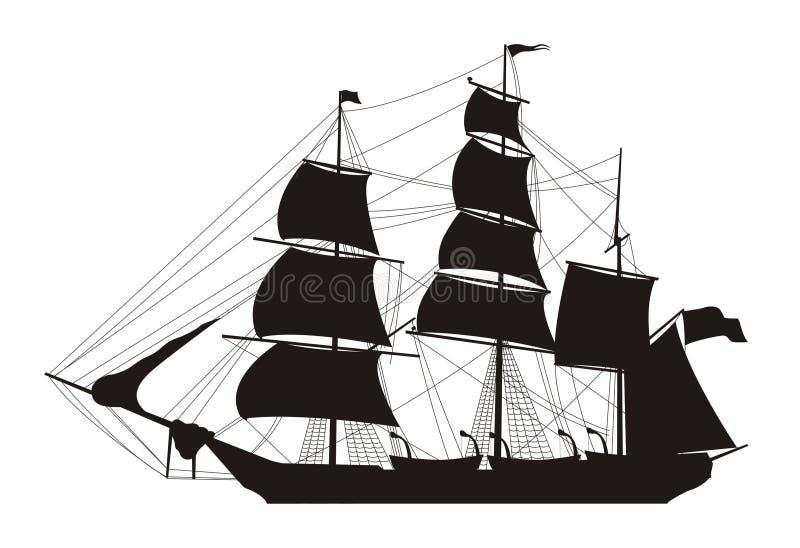 De illustratie van het schip vector illustratie