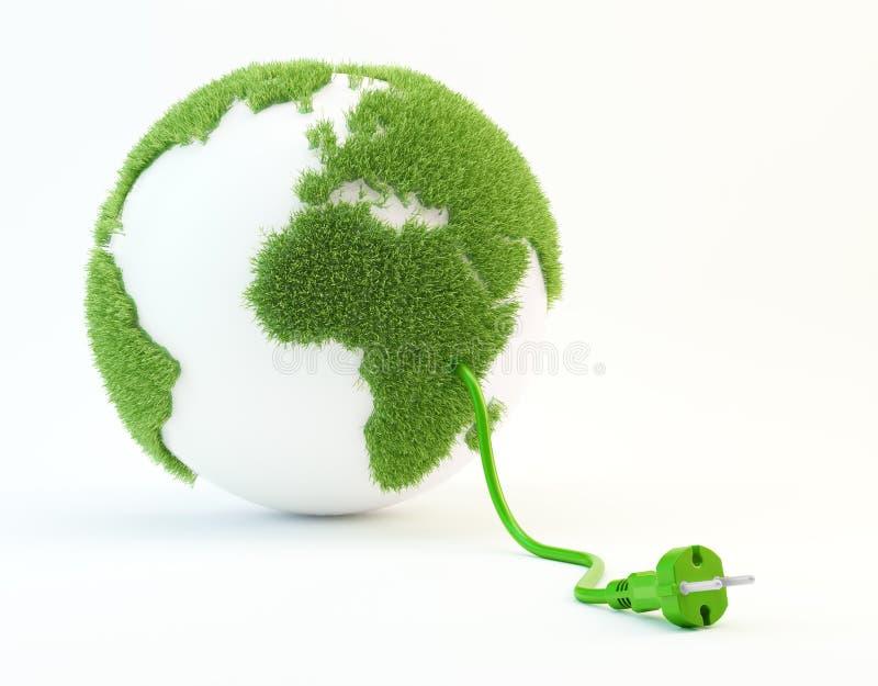 De illustratie van het schone energieconcept royalty-vrije illustratie