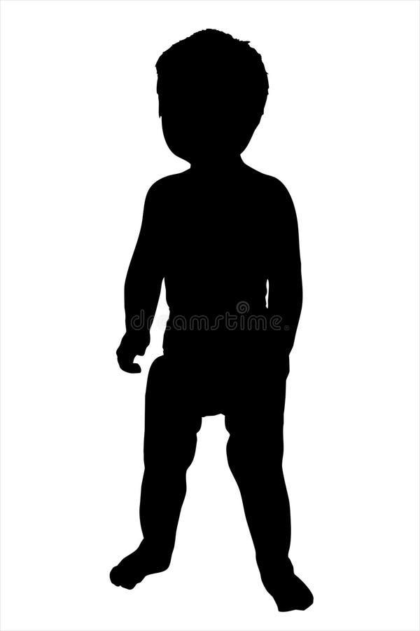De Illustratie van het Silhouet van de peuter royalty-vrije stock foto's