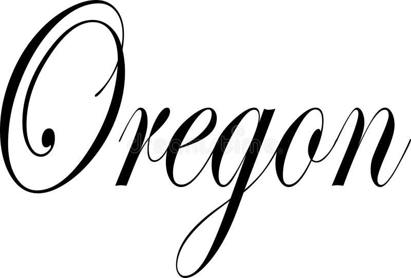 De illustratie van het de tekstteken van Oregon vector illustratie