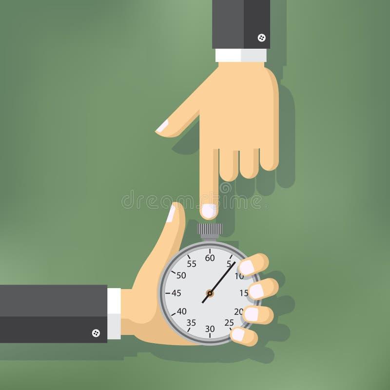 De illustratie van het tijdbeheer stock illustratie