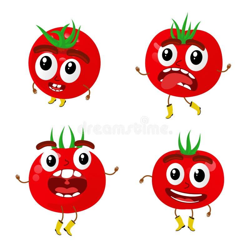 De illustratie van het tomatenbeeldverhaal royalty-vrije illustratie