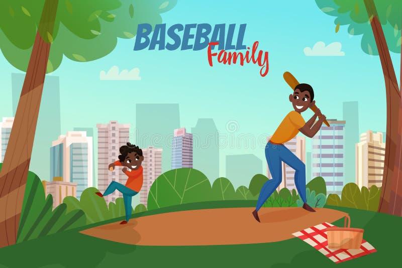 De Illustratie van het vaderschaphonkbal vector illustratie