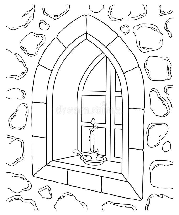 De Illustratie van het Venster van de steen vector illustratie