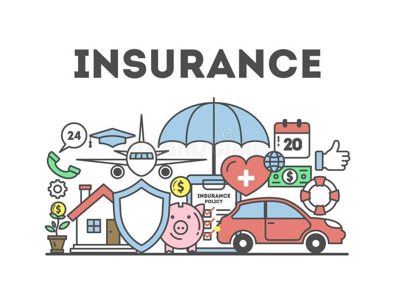 De illustratie van het verzekeringsconcept vector illustratie