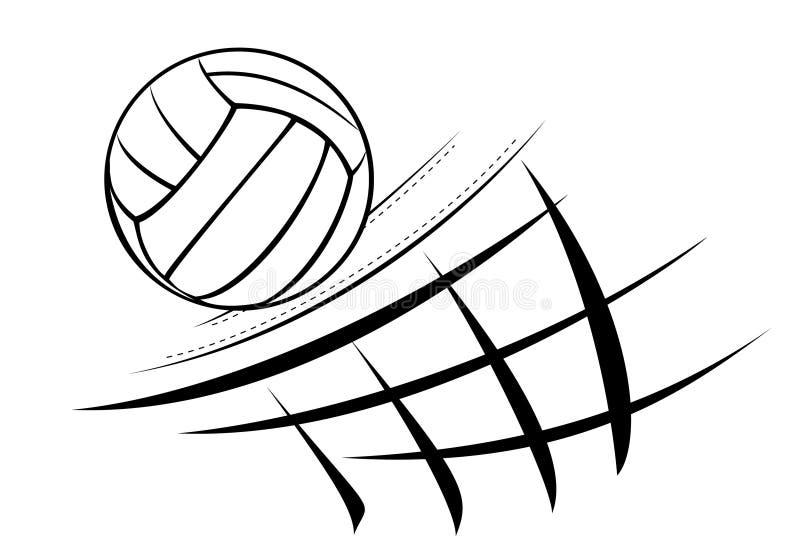 De illustratie van het volleyball vector illustratie