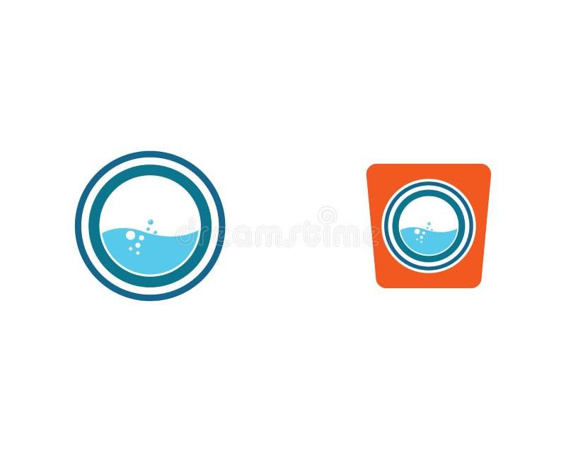 De illustratie van het wasserijsymbool vector illustratie