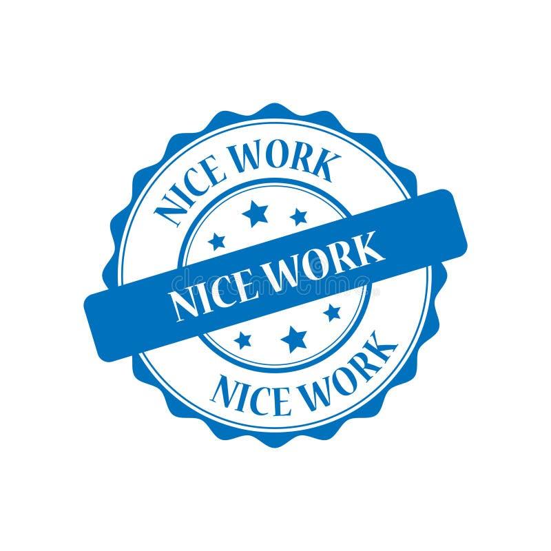 De illustratie van de het werkzegel van Nice stock illustratie