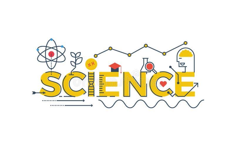 De illustratie van het wetenschapswoord stock illustratie