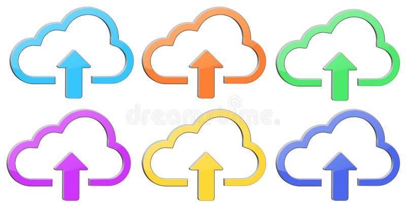 De illustratie van het wolkenpictogram vector illustratie