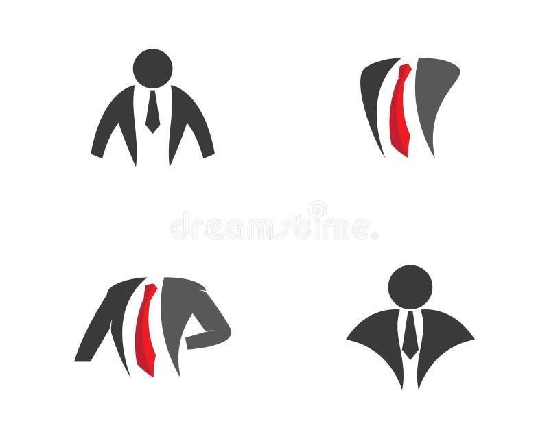 De illustratie van het zakenmanembleem vector illustratie