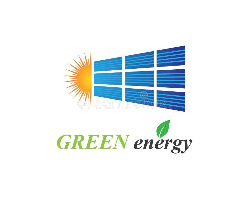 De illustratie van het zonnepaneelembleem stock illustratie