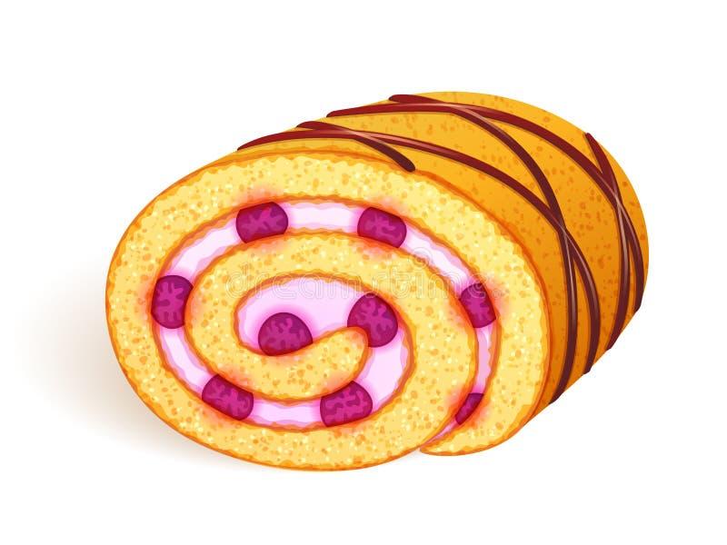 De illustratie van het Zwitsers-broodje vector illustratie