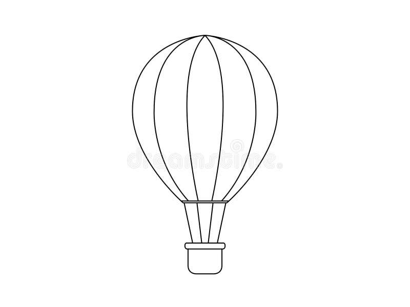 De Illustratie van de hete Luchtballon royalty-vrije illustratie