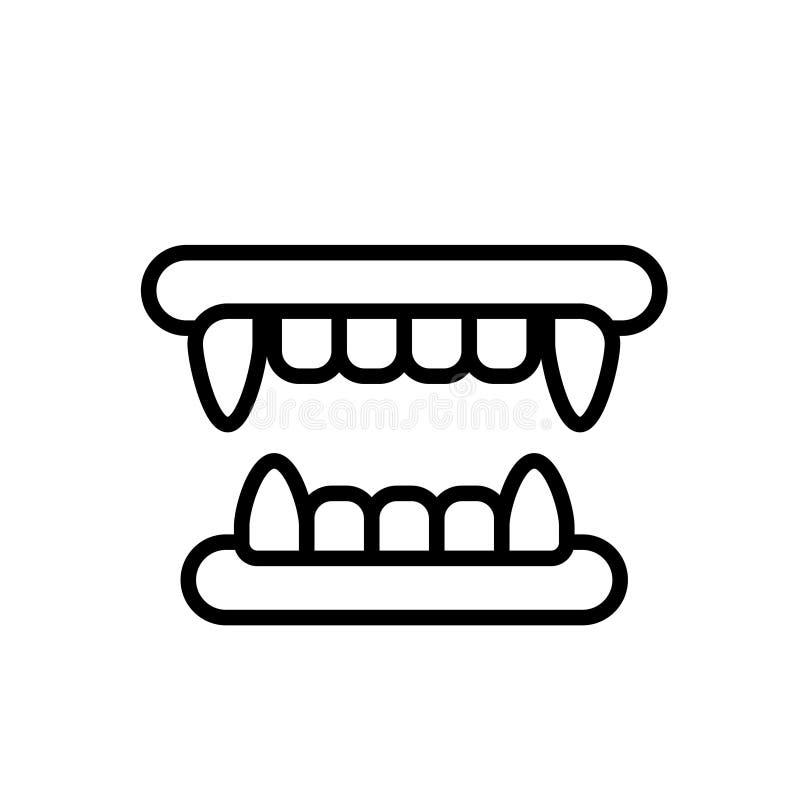 De illustratie van de hoektandenlijn royalty-vrije illustratie