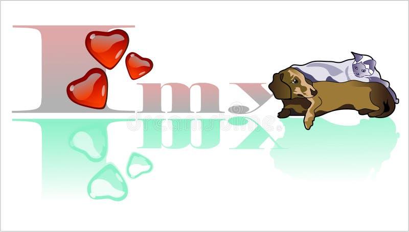 De illustratie van huisdieren vector illustratie