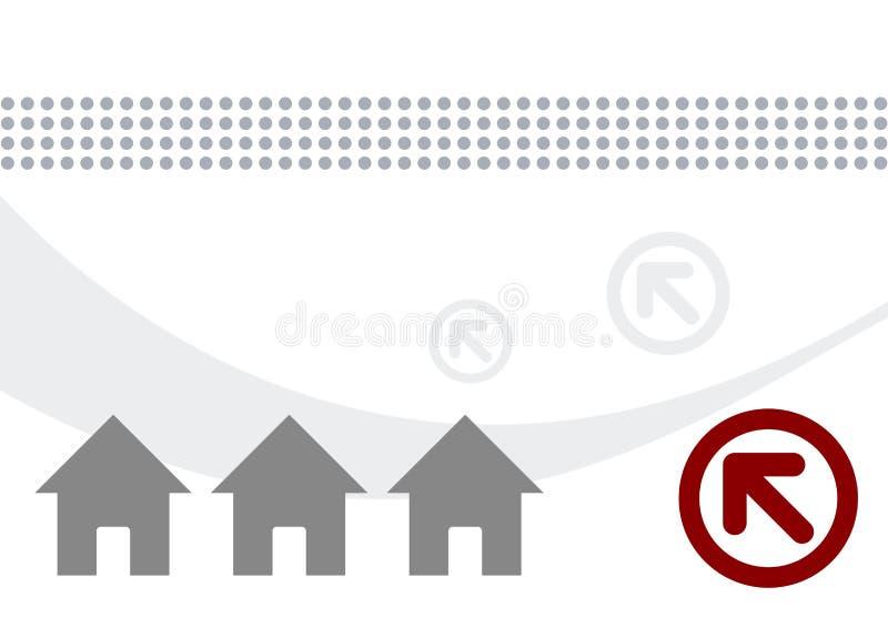 De illustratie van huizen en van pijlen vector illustratie
