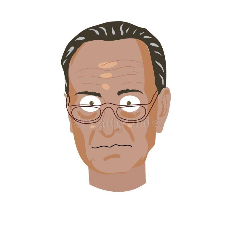 De Illustratie van de karikatuurtekening Karakterportret van Chuck Schumer vector illustratie
